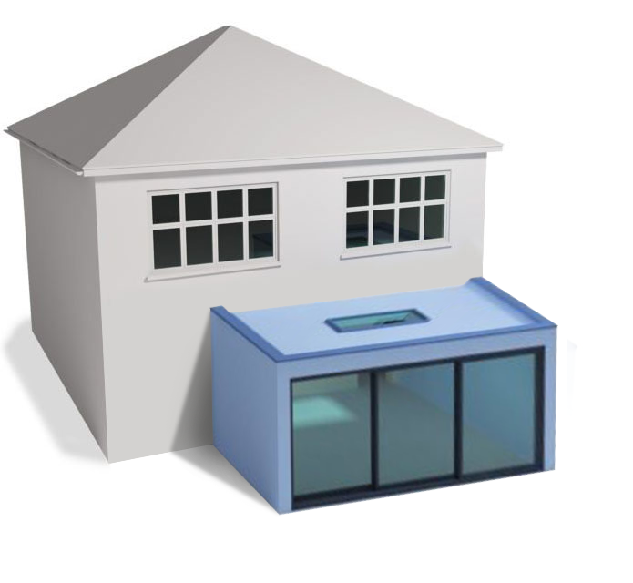 Detached Flat Roof