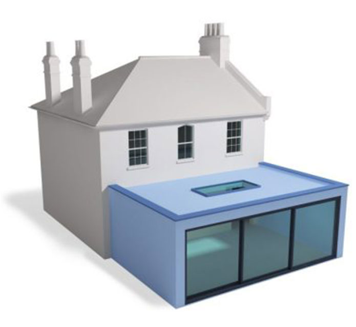 Semi Detached Flat Roof